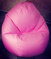Кресло пуф XL розовый