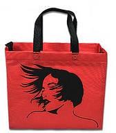 Эко-сумка  с замочком Девушка (спанбонд)32*29*8