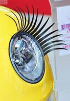 Реснички для авто: гибкие, крепятся на разные формы фар