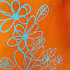Эко-сумка  с замочком оранжевая (спанбонд)32*29*8