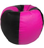 Кресло мешок груша - черный с фиолетовым