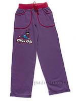 Штаны трикотажные Niso Baby TR102ФР фиолетовые с розовым 110