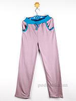 Штаны трикотажные для девочки Niso Baby ДМТ-2 серо-голубые 146-152