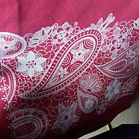Эко сумка вертикальная  абстракция розовая (спанбонд)