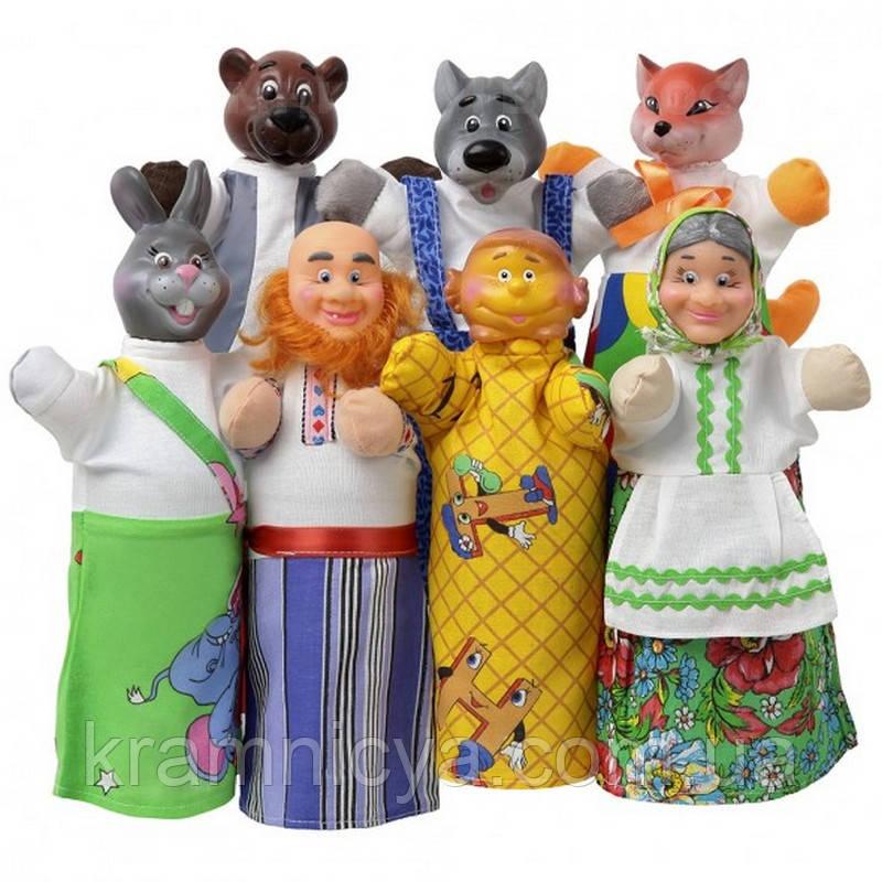 Кукольный театр 'КОЛОБОК' (премиум упаковка, 7 персонажей, книжка) (В065)