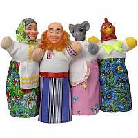 Домашний кукольный театр 'КУРОЧКА РЯБА' (4 персонажа) (В067)