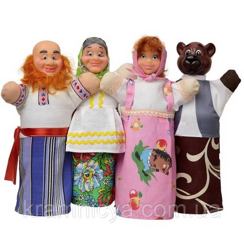 Домашний кукольный театр 'МАША И МЕДВЕДЬ' (4 персонажа) (В068)