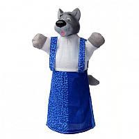 Кукла-рукавичка 'ВОЛК' (пластизоль, ткань) (В076)
