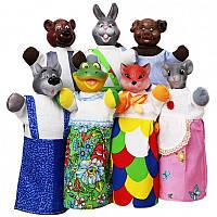 Кукольный театр 'РУКАВИЧКА' (премиум упаковка, 7 персонажей, книжка) (В153)