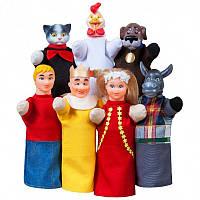 Кукольный театр 'БРЕМЕНСКИЕ МУЗЫКАНТЫ' (премиум упаковка, 7 персонажей, книжка) (В188)