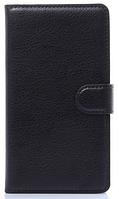 Кожаный чехол-книжка для  Lenovo S8/S898T черный, фото 1
