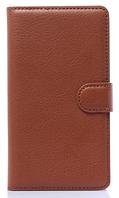 Кожаный чехол-книжка для  Lenovo S8/S898T коричневый