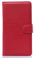 Кожаный чехол-книжка для  Lenovo S8/S898T красный