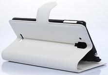 Кожаный чехол-книжка для  Lenovo S8/S898T белый, фото 3