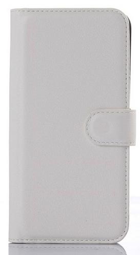 Кожаный чехол-книжка для Asus Zenfone 2 ZE500CL белый