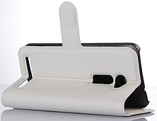 Кожаный чехол-книжка для Asus Zenfone 2 ZE500CL белый, фото 3
