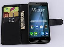 Кожаный чехол-книжка для Asus Zenfone 2 ZE500CL белый, фото 2
