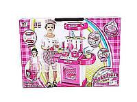 Набор детская кухня 008-58  батар, газовая плита, набор посуды, в коробке  49*30*10 см.