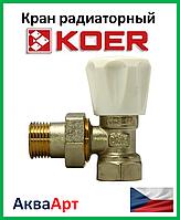 Koer вентиль радиаторный угловой 1/2x1/2