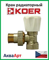 Koer вентиль радиаторный угловой 1/2x1/2(KR.901)