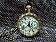 Механические карманные часы на цепочке из бронзы London