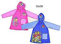 """Дождевик """"Angry Birds, Disney Рrincess"""" CEL-30 (100шт) 2 вида, 2 размера (M,L), с капюшоном"""