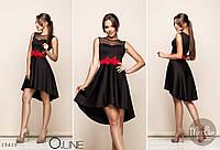Платье с поясом бант - съемным арт 2467-415