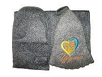 Набор для сауны Сердце с трезубцем (Коврики для бани и сауны)