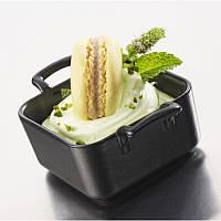 Блюдо для подачи и запекания 7х7х3,5 см., 80 мл. квадратное с ручками, черное Belle cuisine, Revol