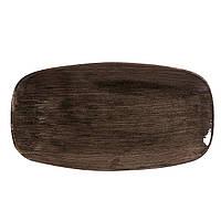 Блюдо фарфоровое 29,8х15,3 см. овальное, коричневое, Iron Black STONECAST PATINA, Churchill