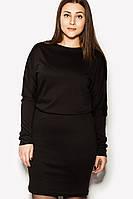 """Платье """"SHENON"""" черное зима, фото 1"""