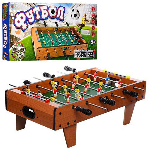 Футбол 2035N (4шт) на штангах, деревянный, 69-58-23см, шкала вед.счета,мяч2шт,в кор-ке,69-35-8см
