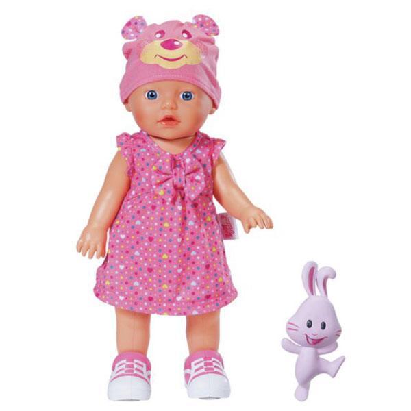Интерактивная кукла MY LITTLE BABY BORN - УЧИМСЯ ХОДИТЬ (32 см, с погремушкой, ходит, озвучена)