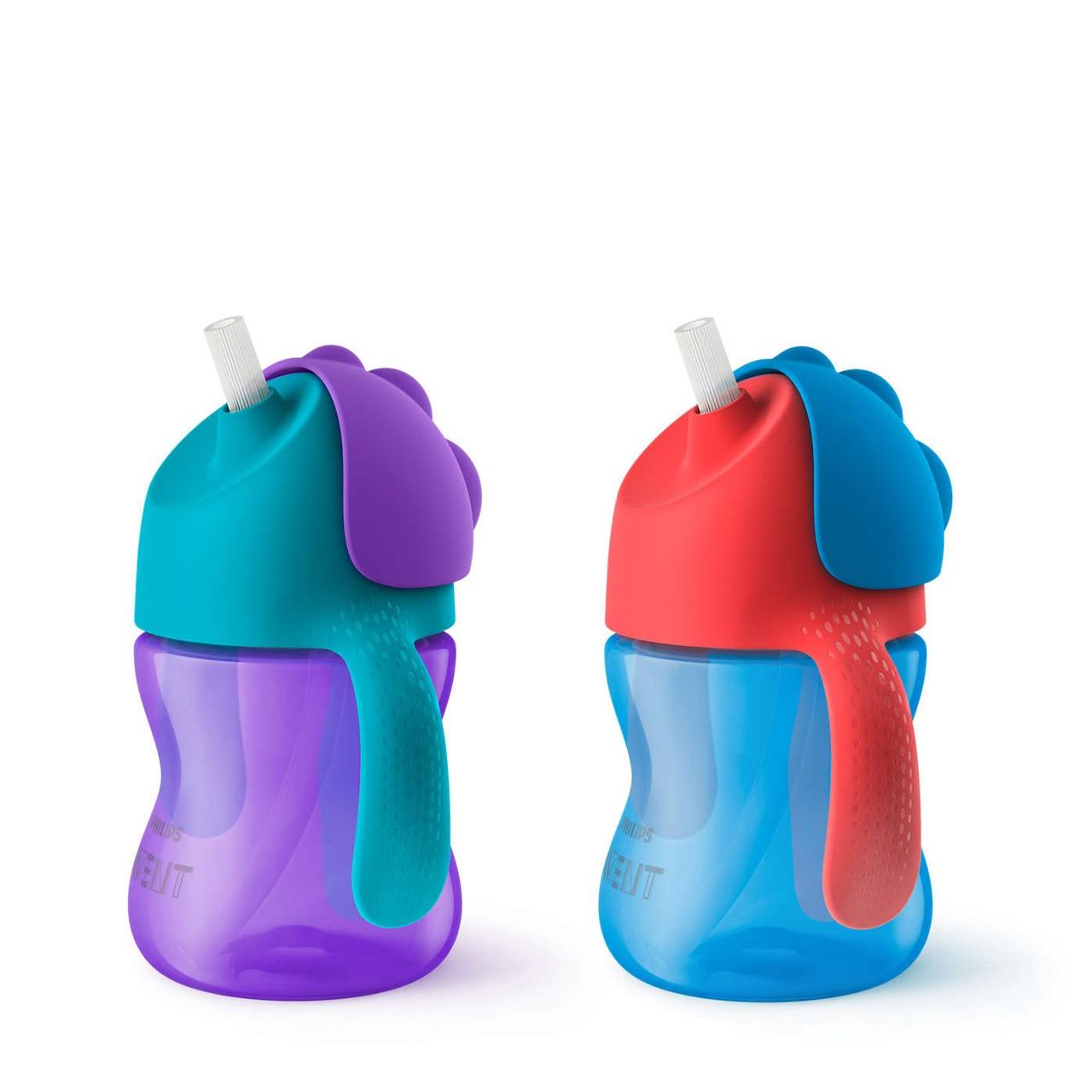 Чашка с трубочкой, 210 мл 1 шт. 9 мес. + дизайн для мальчиков