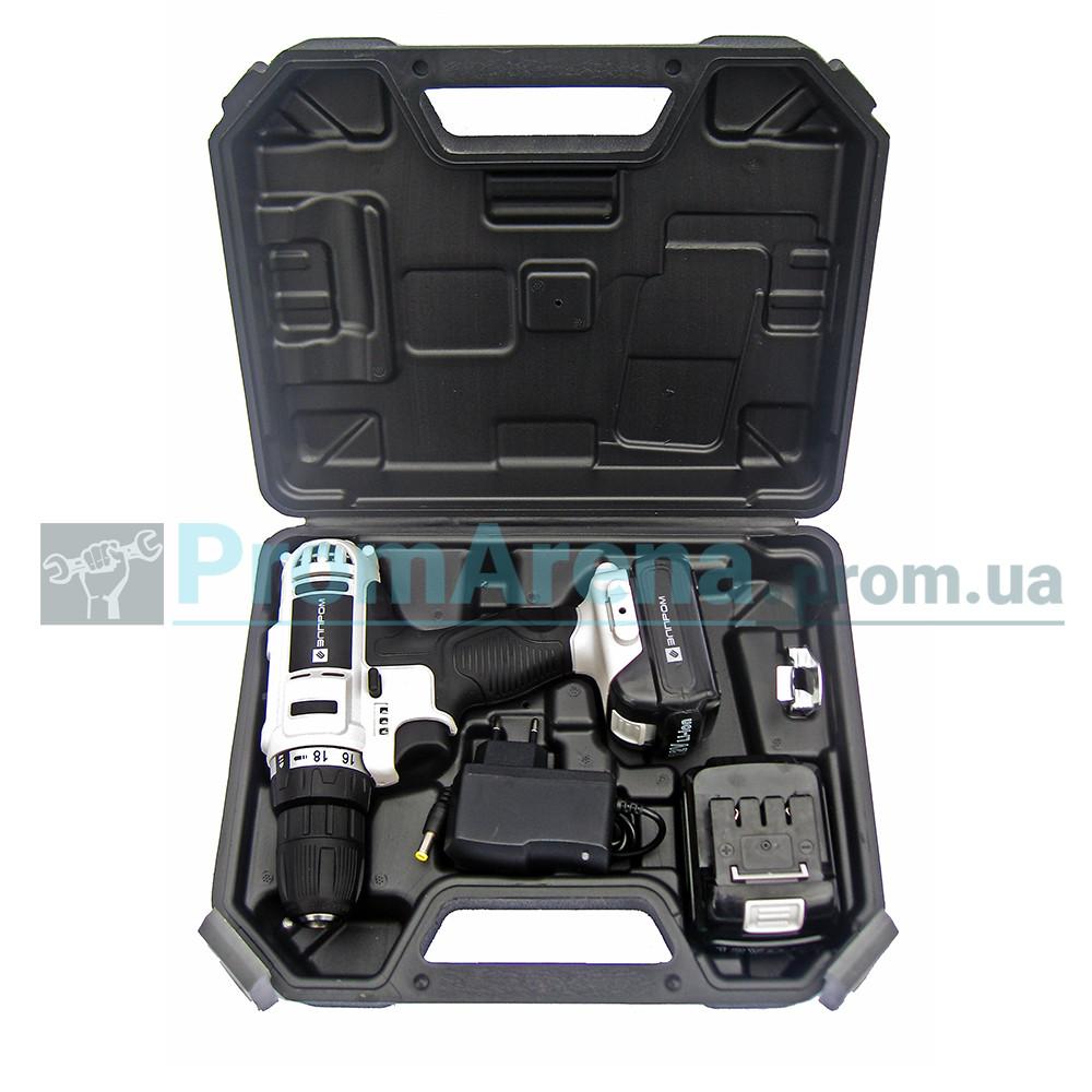 Шуруповерт акумуляторний Элпром ЕДА-12-2Li