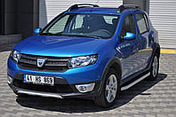 Dacia Sandero 2013 Боковые площадки из алюминия Fullmond