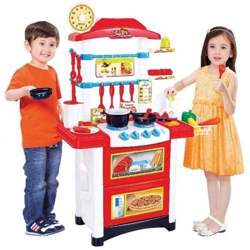 Детская игровая кухня Fun Cook 889-3 плита посуда продукты звук свет