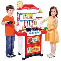 Детская игровая кухня Fun Cook 889-3 плита посуда продукты звук свет, фото 1