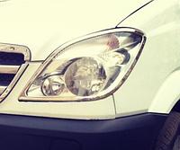 Mercedes Sprinter W906 Накладки на фары (нерж., 2шт.)