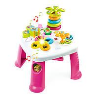 Детский игровой стол Cotoons Цветочек с розовыми ножками, Smoby (211170)
