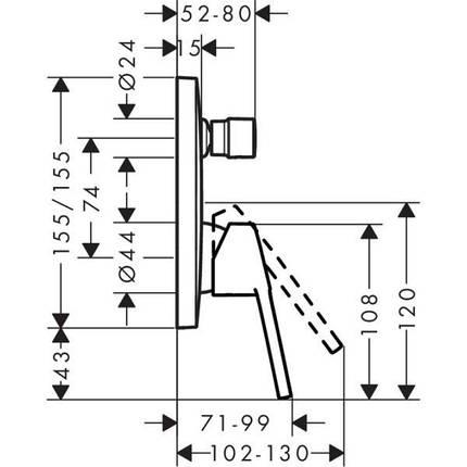 Смеситель Hansgrohe Logis Loop (71264000), фото 2
