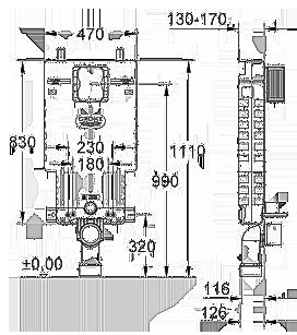 Инсталляция скрытого монтажа Grohe Uniset (38643001), фото 2