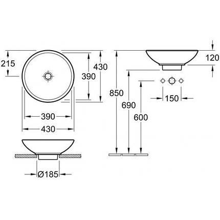 Керамическая раковина Villeroy&Boch Loop&Friends (51440001), фото 2