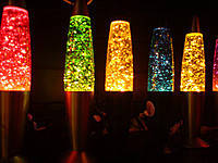 "Лава лампа ""Блеск"" оранжевая 34 см"