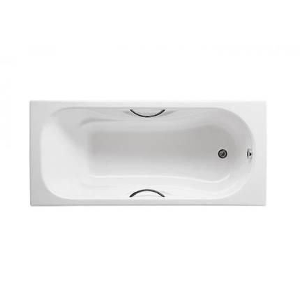 Ванна ROCA Malibu 150x75 с ручками и ножками (A23157000R+A150412330), фото 2
