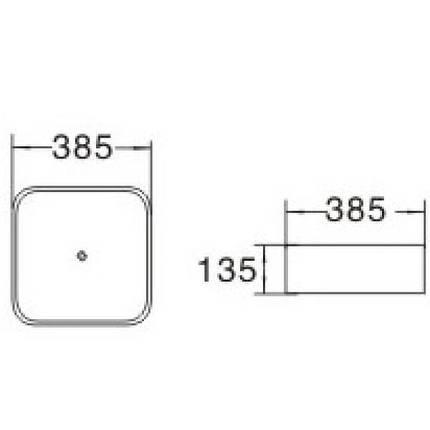 Умывальник VOLLE 38.5x38.5 (13-01-035), фото 2
