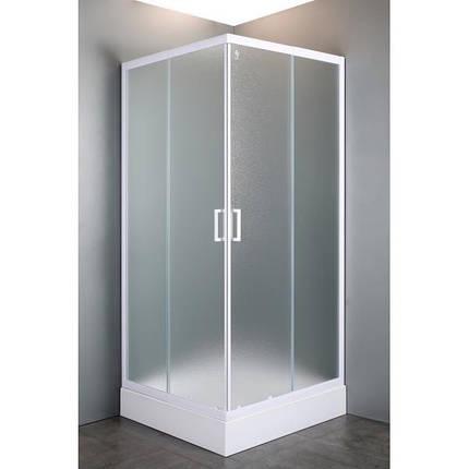 """VI`Z квадратная душевая кабина 80~90*185 см, регулируемый белый профиль, стекло """"Zuzmara"""" (стекла+двери), фото 2"""