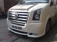 Накладка на передний бампер Volkswagen Crafter (2 фары, аэродинамическая)