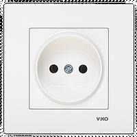 Розетка без заземления VIKO Karre Белая 90960007