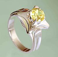 Срібний перстень з корундом